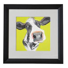 "Caroline Walker - ""Holly the Cow"" Framed Print by Caroline Walker, 40x40 cm - Fine Art Prints"