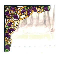 Meyda Tiffany 67141 Grapes Stained Glass Tiffany Window