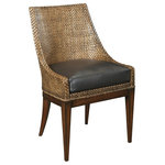 Woodbridge - New Side Chair, Woven Leather Upholstered - Product Details