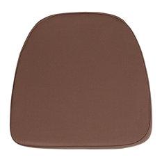 Foam Fabric Chiavari Chair Cushion, Brown