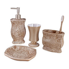 glass bathroom accessories sets. Creative Scents  Victoria 4 Piece Bath Accessory Set Bathroom Sets Houzz