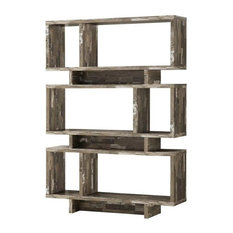 Pemberly Row 3 Tier Traditional Bookcase In Salvaged Cabin