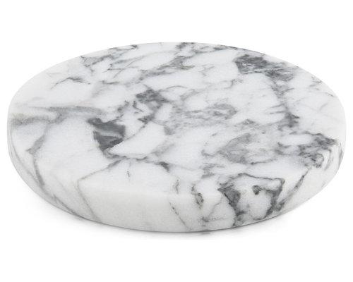 Marble - Round Coasters (Set of 4) - Decorative Plates