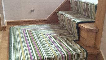 Biscayne Lime Stripe Stair Runner