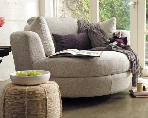 Charmant Snuggle® Swivel Chair   Fabric   Furniture
