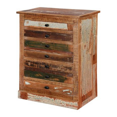 Modern Pioneer Reclaimed Wood 7 Drawer Accent Bachelor?s Chest
