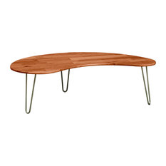 Copeland Furniture Essentials Kidney Shaped Coffee Table Natural Cherry Coffee Tables