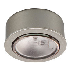 Round Halogen Button Light, Brushed Nickel
