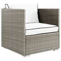 Light Gray White Repose Outdoor Patio Armchair