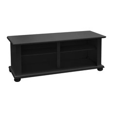 Wooden Onion Foot TV Stand, Opaque Black