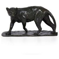 "Consigned Bronze Sculpture ""Lionne Marchant"" by Susse Freres"