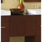 """Ronbow Corporation - Ronbow Rebecca Wall Mount Drawer Bridge With Wood Front, Dark Cherry, 18"""" - Extend the surface area of your vanity and provide supplementary storage in your bathroom with this storage drawer bank. Crafted from solid wood with hardwood plywood construction and a durable, water resistant polyurethane finish, this piece was built for everyday use and was created to last. This piece was designed for the Wall-Hung and Contempo Collections, but can work with other collections as well."""