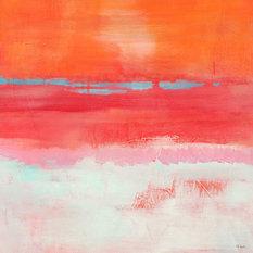 "Giant Art - Persimmon Jump I Fine Art Giant Canvas Print, Pink, Orange, 54""X54"" - Fine Art Prints"