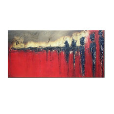 """Waiting"" Abstract Modern Canvas Painting Contemporary Fine Art Giclee by ELOISE"