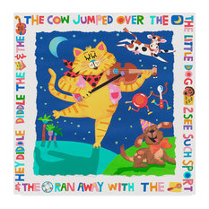 "Cheryl Piperberg 'The Cow Jumped Over The Moon' Canvas Art, 35""x35"""
