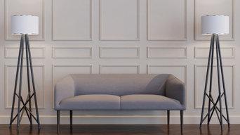 Hampton Regal Self-Ahesive Wall Panneling Kit - Living Room - AGGRAND HOME
