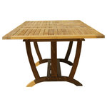 Classic Teak - Deluxe Rect Extension Teak Table - Our Large Deluxe Rectangle Extension Table is perfect for large family's and accommodates 8-12 people. You may also be interested in our Oval Teak Extension Table. The leaves fold right inside the table, no storage necessary! It has smooth corners so that everyone can get around it easily. The strong supports under this table mixed with the structure of the leg design, is well thought out and creates an incredibly stable piece of furniture. This table, like all of our teak furniture, is manufactured from specially selected teak, grown in a sustainable growth forests, on the island of Java. The forests are managed very well by the Indonesian government to ensure that the harvested wood remains a renewable resource for generations to come. Any of our teak chair designs work well with this table, or, you can use backless benches for the kids.
