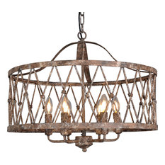 Circular Lantern in Antique Iron