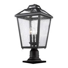Bayland 3-Light Post-Light or Accessories, Black
