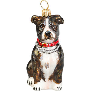 American Staffordshire Terrier Ornament, Brindle