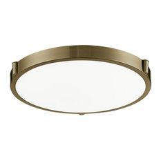Kuzco Lighting 501122-VB LED Flush Mount Light, Vintage Brass
