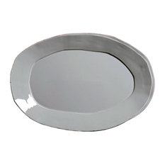 Lastra Oval Platter in Gray