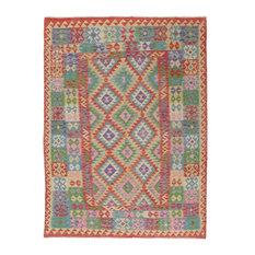 "Kelim Afghan Rug Oriental Rug 7'11""x5'11"" Hand-Woven Classic"
