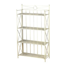 Pemberly Row 25.5 4 Tier Iron Bakers Rack, White