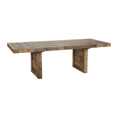 "Norman Reclaimed Pine 95"" Ext Dining Table Distressed Natural by Kosas Home"