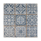 "13""x13"" Faventia Ceramic Floor/Wall Tiles, Azul"