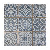 SomerTile Faventia Ceramic Floor and Wall Tile, Azul