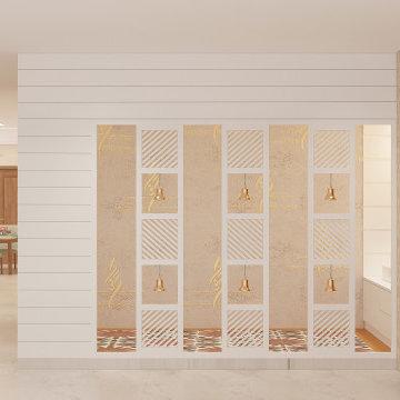 Grand Temple Room   Prestige White Meadows   Indian Design   Artis Interiorz   B
