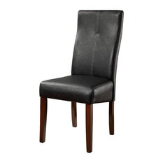 Furniture of America Rosa Dining Chair in Brown Cherry (Set of 2)