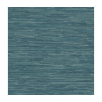 Faux Grasscloth Wallpaper, Teal, Sample