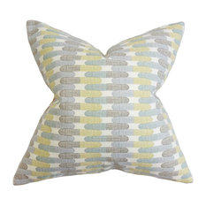 "Malus Geometric Pillow Blue 18""x18"""