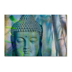 Cora Niele 'Buddha with Bamboo' Canvas Art