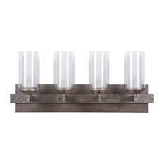 Mod 4 Light Bathroom Vanity Light in Natural Iron/Vintage Iron