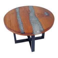 vidaXL Teak Resin Coffee Table, 60 cm