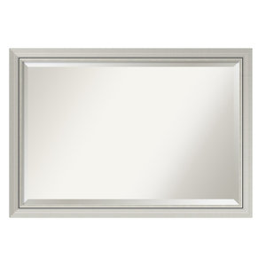 "Bathroom Mirror, Fits Standard 30-48"" Cabinet, Romano Narrow Silver, 40""x28"""