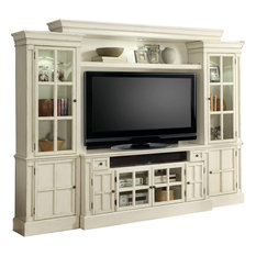 """Parker House - Parker House Charlotte 4-Piece 72"""" Entertainment Wall in White - Entertainment Centers and Tv Stands"""