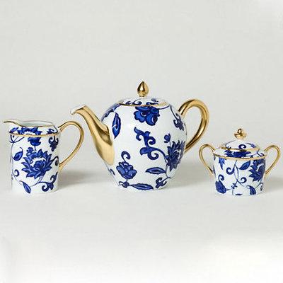 Traditional Tea Sets Bernardaud Prince Bleu Tea & Coffee Service