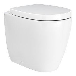 Street White Ceramic Toilet, Floorstanding