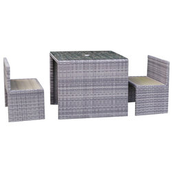 Contemporary Outdoor Dining Sets by Mango Beach Bay