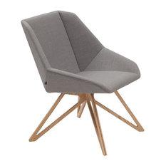 Rosebud Scandinavian Armchair With Ash Base, Grey