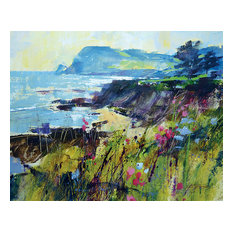 """""""Getting To the Point, Prawle"""" Printed Canvas by Chris Forsey, 50x40 cm"""