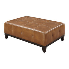 Emerald Home   Marquis Cocktail Ottoman, Chestnut   Footstools And Ottomans