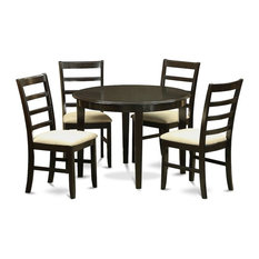 5-Piece Small Kitchen Table Set Round Kitchen Table And 4 Dining Chairs