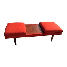 Design59furniture   Retro Coffee Table Ottoman, Burnt Orange   Coffee Tables