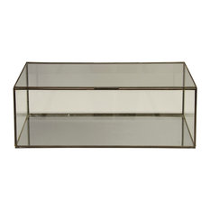 Rectangle Clear Glass Box, Large