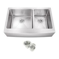 Stainless Steel Undermount Farmhouse 60/40 Double Bowl Kitchen Sink